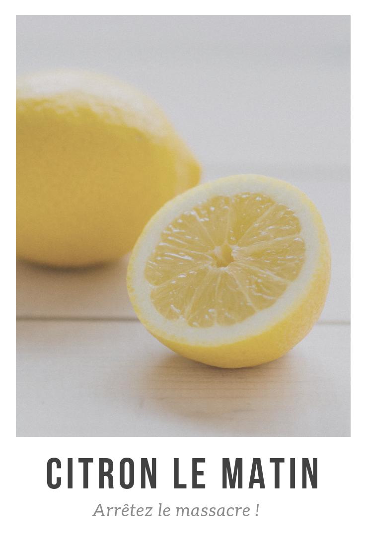 le citron le matin